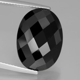 thumb image of 14.7ct Oval Rose-Cut Black Spinel (ID: 438630)