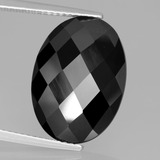 thumb image of 11.9ct Oval Rose-Cut Black Spinel (ID: 438631)
