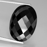 thumb image of 12.8ct Oval Rose-Cut Black Spinel (ID: 438636)