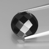 thumb image of 6.9ct Round Rose-Cut Black Spinel (ID: 438861)