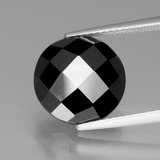 thumb image of 7.3ct Round Rose-Cut Black Spinel (ID: 438862)