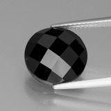 thumb image of 7.2ct Round Rose-Cut Black Spinel (ID: 438864)