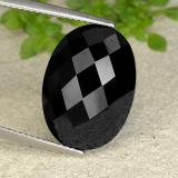 thumb image of 14.7ct Oval Checkerboard Black Spinel (ID: 484503)