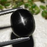 thumb image of 3.9ct Oval Cabochon Black Star Diopside (ID: 479490)