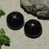 thumb image of 6.4ct Round Cabochon Black Star Diopside (ID: 480533)
