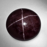 thumb image of 49.7ct Round Cabochon Black Red Star Garnet (ID: 403886)