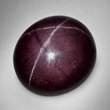 thumb image of 57.4ct Oval Cabochon Black Red Star Garnet (ID: 404003)