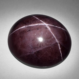 thumb image of 93.1ct Oval Cabochon Black Red Star Garnet (ID: 404008)