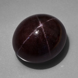 thumb image of 97.9ct Oval Cabochon Black Red Star Garnet (ID: 418032)