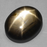 thumb image of 20.3ct Oval Cabochon Black Star Sapphire (ID: 350892)