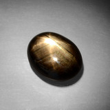 thumb image of 13.9ct Oval Cabochon Black Star Sapphire (ID: 385852)