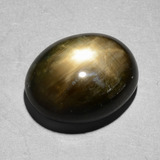 thumb image of 8.7ct Oval Cabochon Black Star Sapphire (ID: 385853)