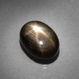 thumb image of 9.7ct Oval Cabochon Black Star Sapphire (ID: 386102)