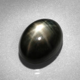 thumb image of 8.9ct Oval Cabochon Black Star Sapphire (ID: 386112)