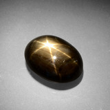 thumb image of 6.6ct Oval Cabochon Black Star Sapphire (ID: 387534)