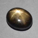 thumb image of 9.4ct Oval Cabochon Black Star Sapphire (ID: 388460)