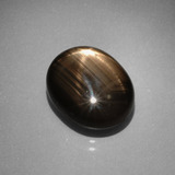 thumb image of 10.6ct Oval Cabochon Black Star Sapphire (ID: 388539)