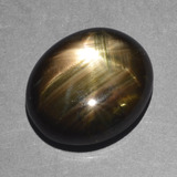 thumb image of 9.9ct Oval Cabochon Black Star Sapphire (ID: 390650)