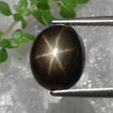 thumb image of 4.3ct Oval Cabochon Black Star Sapphire (ID: 470375)
