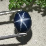 thumb image of 3.4ct Oval Cabochon Blue Star Sapphire (ID: 478887)
