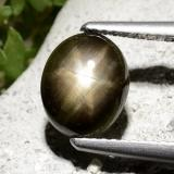 thumb image of 2.7ct Oval Cabochon Black Star Sapphire (ID: 498733)