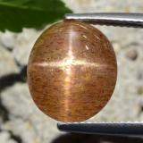 thumb image of 5.2ct Oval Cabochon Golden-Brown Star Sunstone (ID: 471178)