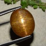 thumb image of 8.8ct Oval Cabochon Golden-Brown Star Sunstone (ID: 486322)