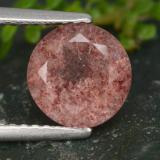 thumb image of 1.8ct Round Facet Red Strawberry Quartz (ID: 474922)