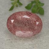 thumb image of 6.1ct Oval Facet Red Strawberry Quartz (ID: 490374)