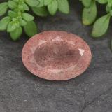 thumb image of 5.9ct Oval Facet Red Strawberry Quartz (ID: 490715)