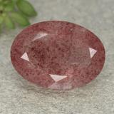 thumb image of 5.6ct Oval Facet Red Strawberry Quartz (ID: 493251)
