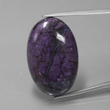 thumb image of 32.1ct Oval Cabochon Violet Sugilite (ID: 406864)