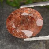 thumb image of 3.1ct Oval Facet Orange Sunstone (ID: 474272)