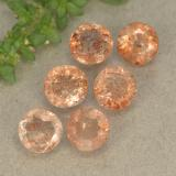 thumb image of 0.5ct Round Facet Orange Sunstone (ID: 494229)