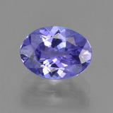 thumb image of 1.5ct Oval Facet Bluish Violet Tanzanite (ID: 291329)