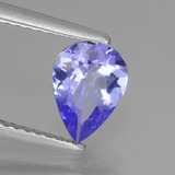 0.95 ct Pear Facet Violet Blue Tanzanite Gem 8.11 mm x 5.9 mm (Photo B)