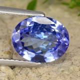 thumb image of 2.6ct Oval Facet Violet Blue Tanzanite (ID: 336969)