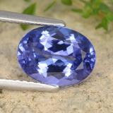 thumb image of 2.5ct Oval Facet Violet Blue Tanzanite (ID: 337139)