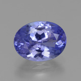 thumb image of 1.9ct Oval Facet Violet Blue Tanzanite (ID: 360444)