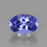 thumb image of 1.1ct Oval Facet Violet Blue Tanzanite (ID: 374694)