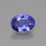 thumb image of 1ct Oval Facet Violet Blue Tanzanite (ID: 374700)