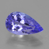 thumb image of 1.6ct Pear Facet Violet Blue Tanzanite (ID: 398637)