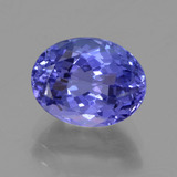 thumb image of 2.6ct Oval Facet Violet Blue Tanzanite (ID: 398687)