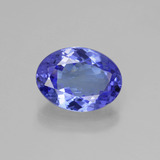 thumb image of 3.1ct Oval Facet Violet Blue Tanzanite (ID: 398692)