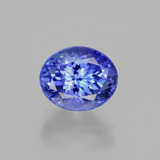 thumb image of 3.9ct Oval Facet Violet Blue Tanzanite (ID: 398693)