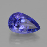 6.93 ct Pear Facet Violet Blue Tanzanite Gem 14.72 mm x 9.2 mm (Photo B)