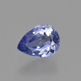 thumb image of 1.1ct Pear Facet Violet Blue Tanzanite (ID: 410470)
