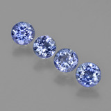 thumb image of 2.9ct Round Facet Violet Blue Tanzanite (ID: 411253)