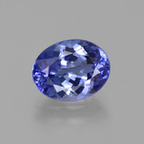 thumb image of 2.6ct Oval Facet Violet Blue Tanzanite (ID: 411667)
