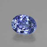 thumb image of 2.7ct Oval Facet Violet Blue Tanzanite (ID: 411836)